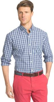 Izod Men's Advantage Slim-Fit Checked Stretch Button-Down Shirt