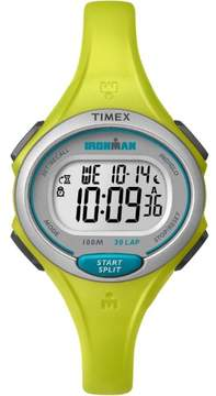 Timex Women's Ironman Essential 30 Mid-Size Watch, Lime Resin Strap
