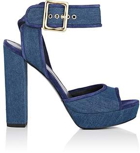 Balmain WOMEN'S DENIM PLATFORM SANDALS
