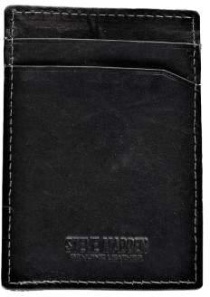 Steve Madden Mens Antique Leather Money Clip Wallet