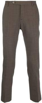 Entre Amis checked tailored trousers