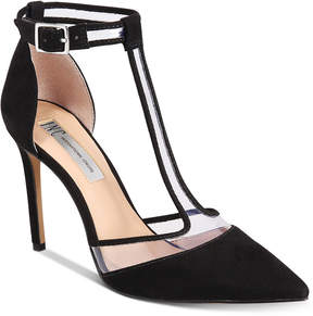 INC International Concepts Kaeley T-Strap Pumps, Created for Macy's Women's Shoes