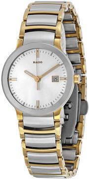Rado Centrix Jubile Silver Dial Two-tone Ladies Watch