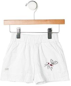 Sonia Rykiel Girls' Butterfly Embellished Shorts
