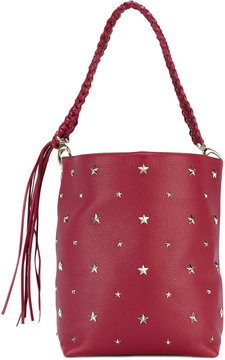 Red Valentino stars studded shopping bag