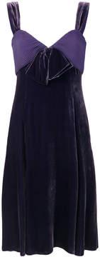 Armani Collezioni empire line bow front dress