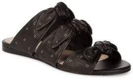 Pour La Victoire Logan Knotted Leather Slides
