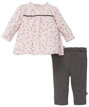 Offspring Girls' Floral Tunic & Stripe Leggings Set - Baby