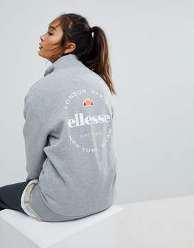 Ellesse Funnel Neck Zip Top With Back Logo