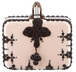 Christian Louboutin Embroidered Sofia Clutch