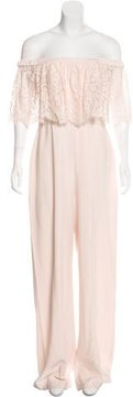 Theia Off-The-Shoulder Wide-Leg Jumpsuit w/ Tags