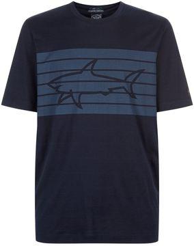 Paul & Shark Striped Shark T-Shirt
