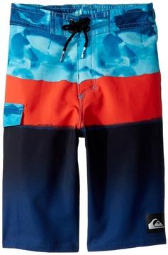 Quiksilver Blocked Resin Camo 14 Boardshorts Boy's Swimwear
