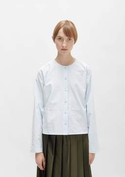 Sara Lanzi Cotton Oxford Shirt Baby Blue