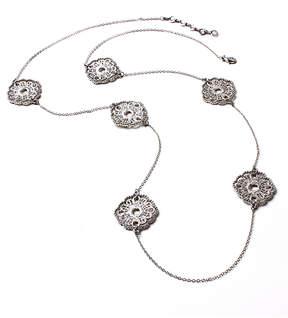 Amrita Singh Austrian Crystal & Silvertone Elidh Station Necklace