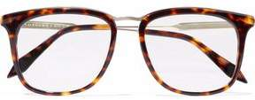 Victoria Beckham Square-Frame Tortoiseshell Acetate And Gold-Tone Optical Glasses