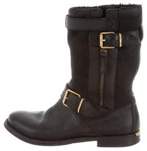 Burberry Leather & Shearling Boots