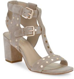 424 Fifth Letha Suede Studded Sandals