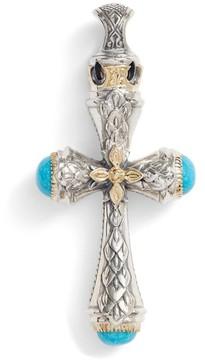 Konstantino Men's Heonos Turquoise Cross