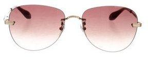 Carolina Herrera Aviator Gradient Sunglasses