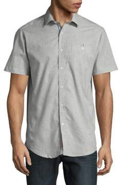 Report Collection Short Sleeve Cotton Button-Down Shirt