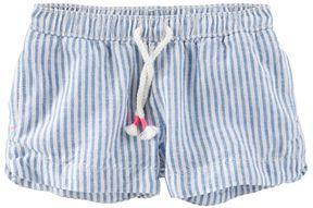 Osh Kosh Toddler Girl Striped Linen-Blend Shorts