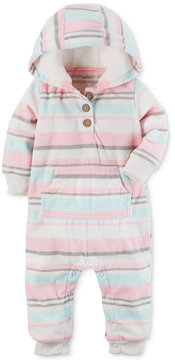 Carter's 1-Pc. Hooded Striped Coverall, Baby Girls (0-24 months)