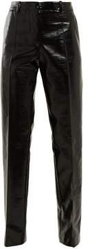 Jil Sander Emilio straight-leg coated cotton-blend trousers