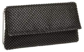 Nina Beaded Mesh Clutch - Black