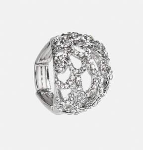Avenue Sparkle Scallop Dome Stretch Ring