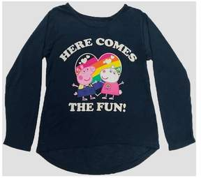 Peppa Pig Girls' Long Sleeve T-Shirt - Navy