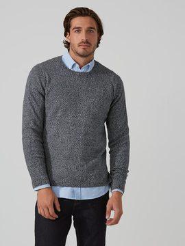 Frank and Oak Twisted Yarn Crewneck Sweater in Bearing Sea