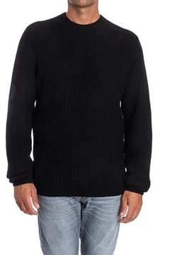 Laneus Men's Black Wool Sweater.