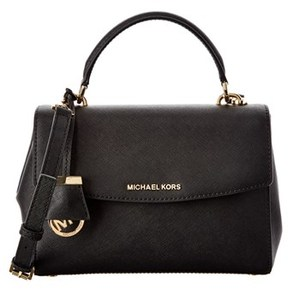 MICHAEL Michael Kors Ava Small Leather Satchel. - BLACK - STYLE