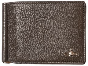 Vivienne Westwood Tumbled Leather Clip Wallet