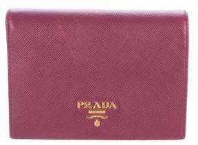 Prada Saffiano Metal Compact Wallet
