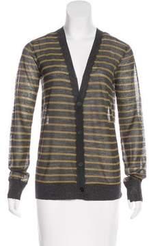 Alexander Wang Striped Long Sleeve Cardigan