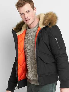 Gap Faux-fur hooded bomber