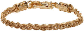 Emanuele Bicocchi Gold Braided Knots Bracelet
