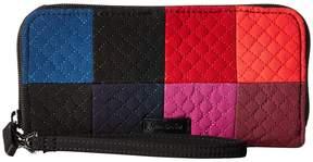 Vera Bradley Iconic RFID Accordion Wristlet Wristlet Handbags - WINTER PATCHWORK - STYLE