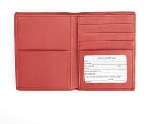 Royce Leather ROYCE RFID Blocking Bifold Passport Currency Travel Wallet Handcrafted in Genuine Red Leather
