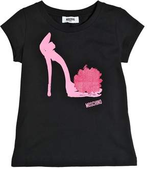 Moschino Shoe Printed Cotton Jersey T-Shirt