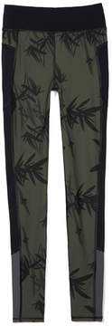 Sweaty Betty Zero Gravity Run Leggings in Olive Bamboo Shadow Print, X-Small