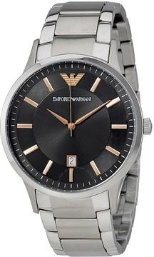 Giorgio Armani Renato Grey Dial Men's Stainless Steel Watch