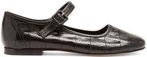 Maryam Nassir Zadeh Thelma crocodile-effect leather flats