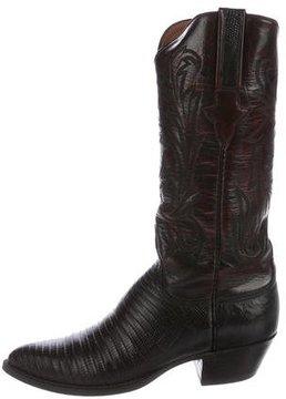 Lucchese Lizard Cowboy Boots