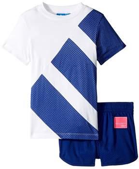adidas Kids EQT Tee Short Set Girl's T Shirt