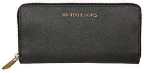 MICHAEL Michael Kors Jet Set Travel Continental Wallet Black - BLACK - STYLE
