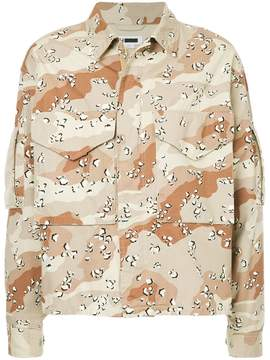 H Beauty&Youth camouflage print jacket