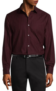 Claiborne Long Sleeve Stripe Button-Front Shirt